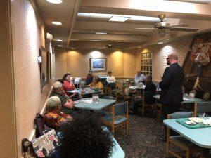 Lutton talking with the Center City Conservatives Republican Club