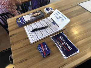 Campaign Material and Sign up list were available