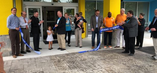 and the ribbon cut