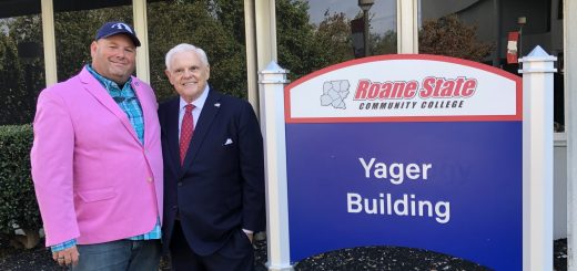 myself with Senator Ken Yager beside the NEW Yager Building sign