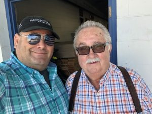 Mike Frazier of Knox Rail Salvage and me