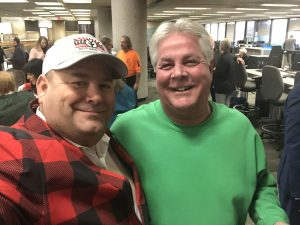 What says CHRISTMAS more than Sheriff JJ Jones in Green and me in Red