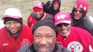 Michael Covington and a few of his fraternity brothers are ready to participate.