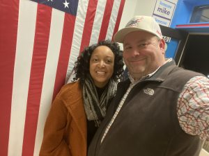 Dasha Lundy and I at the Mike Bloomberg Knox County HQ Opening