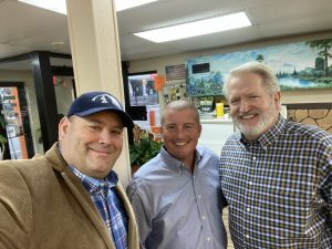 Tom Rudder, Billy King and I enjoyed visiting with everyone
