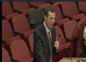 Tommy Smith during the City Council interview
