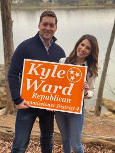 Kyle Ward and his wife