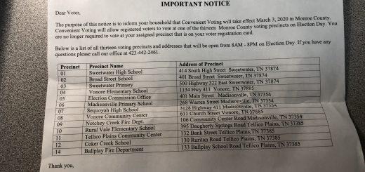 notice to Monroe County voters