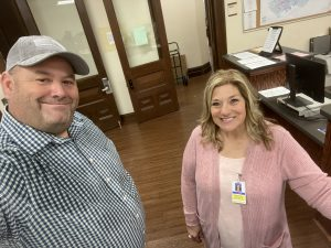 Gina Oster picking up a petition on Friday March 21, 2020 at the Knox County Election Commission for TN State House District 18, it was raining outside as proof by my shirt
