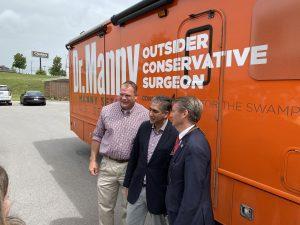 Sethi with Knox County Mayor Glenn Jacobs and Congressman Tim Burchett