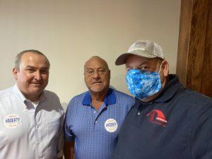 Loudon County Trustee Chip Miller, Lenoir City Councilman James Brandon and me