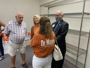 Tommy and TN State House District 16 candidate Patti Bounds talk with State Senator Dr. Richard Briggs and Susan Richardson Williams
