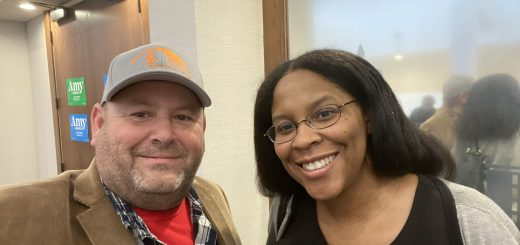 myself and Lykena Middlebrook, who will step down as Knox Democrat Chair to become PARC Director