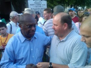 Herman Cain and I in Middle TN in 2012