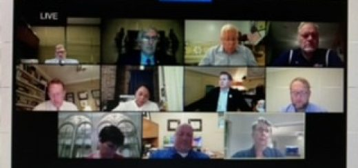 Knox County Commission with Dr. Martha Buchanan (in the bottom right corner)