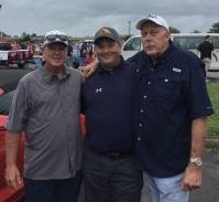 Farragut High Football Coach Eddie Courtney, myself and Farragut's Don Dodgen