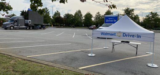 the Walmart Drive-In screen in Turkey Creek on Parkside Drive