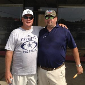 Coach Courtney and I following a July 4 parade in Farragut several years ago