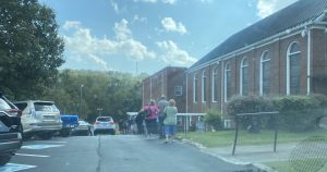 The line on Day Two 10/15/2020 for Early Voting in South Knoxville