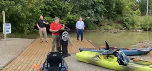 Larsen Jay at the August 28, 2020 kayak launch