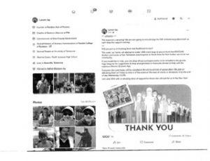 screenshot of evidence in the sworn complaint