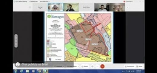 from the online view of the Farragut Board meeting 12/28/2021