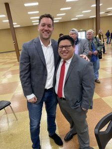 Fourth District Knox County Commissioner Kyle Ward with Herrera right after the results were announced
