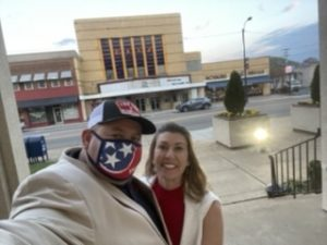 myself and Loudon County Commissioner and former TN Republican SEC Committeewoman Julia Hurley as we left the courthouse with the Ritz behind us