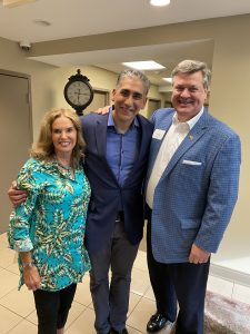 the trio in 2021 that kicked it off in 2019, Susan Richardson Williams, Dr. Manny and Lou Moran III