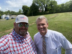 myself and TODD Napier at the River Breeze Event Center announcement and ground breaking